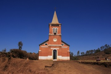 église près d'Antsirabé