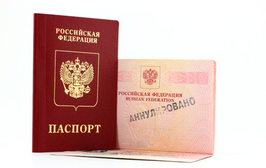 Паспорт с отметкой Анулировано