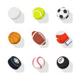 sports icons. set of vector illustration. isolated on white