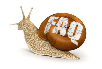 Snail and FAQ (clipping path included)