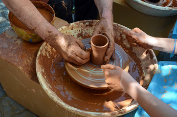 pupil and teacher of pottery