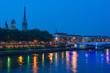 Rouen at a summer night