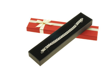 Bracelet with dimaonds in a gift box
