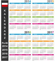 Calendar 2014-2017