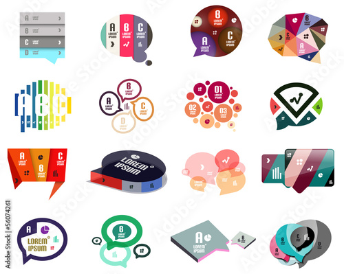Speech bubbles modern design templates
