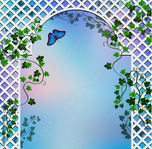 Romantic arbor with ivy