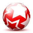 Kugel, Glaskugel, Sterne, Weihnachtskugel, Weihnachten, Deko, 3D