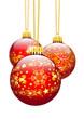Christbaumschmuck, Weihnachtskugel, Dekoration, Textur, Rot, 3D
