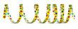 Luftschlange, Gelb, Papierschlange, Vorlage, Design, Dekoration
