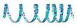 Luftschlange, Blau, Papierschlange, Vorlage, Design, Dekoration
