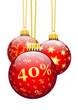 Weihnachtskugel, Vierzieg Prozent, 40 %, Rabatt, Sonderangebot