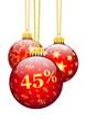 Weihnachtskugel, Fünfundvierzieg Prozent, 45 %, Rabatt, Angebot