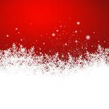 Fototapety Hintergrund, Eisblumen, Schneekristalle, Rot, Vorlage, Design