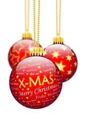 Weihnachtskugel, X-MAS, Christbaumschmuck, Dekoration, Vorlage