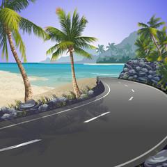 Estrada para praia