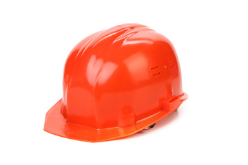 Red hard hat.