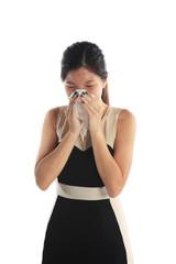 Sick Asian Woman