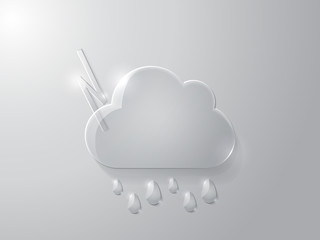 Vector illustration of glass cloud