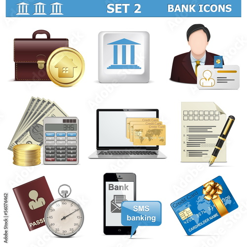 Vector Bank Icons Set 2