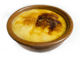 Crema Catalana or Crme Brulee. Dessert in Catalonia.