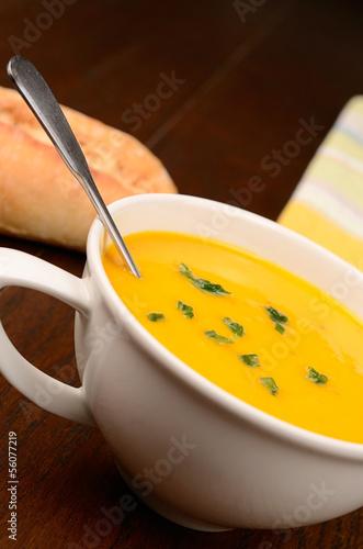 Hokkaido soup with fresh herbs