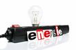 Energie - Glühbirne in Mehrfachstecker
