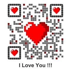I Love You !!! - QR Code english