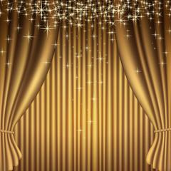 Rideaux théâtre - or