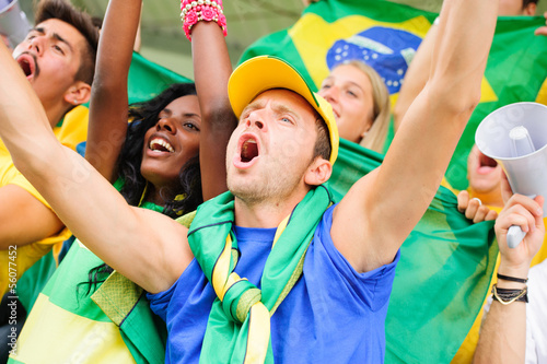 Brasilian Supporters at Stadium..