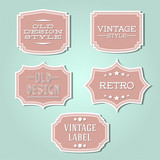 Vector collection - vintage and retro labels