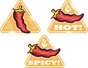 Hot and Spicy Pepper Signs
