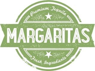 Vintage Style Margarita Cocktail Stamp