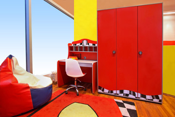 Red children room