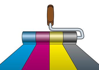 Paint roller CMYK