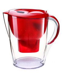 Red water filtration pitcher - domestic water purifier