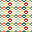 Seamless Pattern Christmas Balls Trees Red/Green