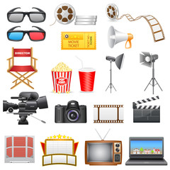 vector illustration of entertainment and  cinema icon