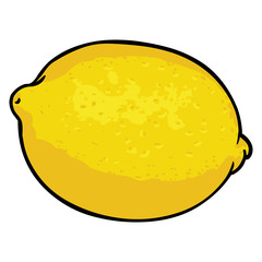 vector cartoon lemon