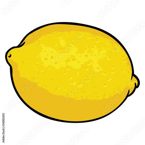 vector cartoon lemon