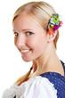 Portrait of happy Bavarian girl
