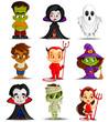 vector illustration of Halloween monster costume