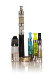 Electronic cigarette - Money, liquid and cigarette