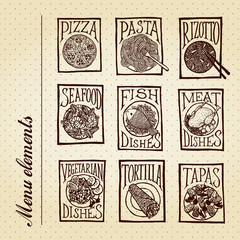 Menu elements - dish
