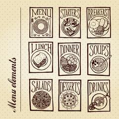 Menu elements - meals
