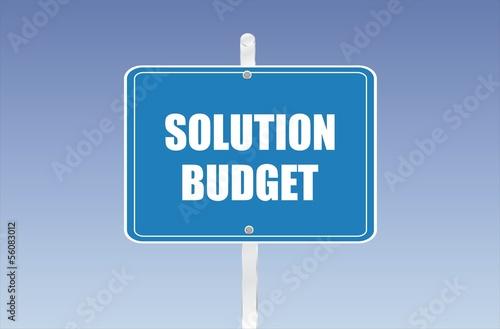 panneau solution budget