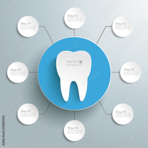 Tooth Blue Circle 8 Options