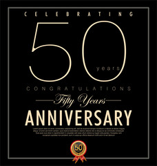 50 years anniversary black background