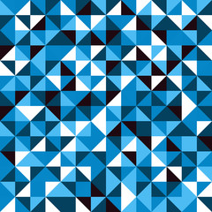 Seamless blue geometric pattern with triangles