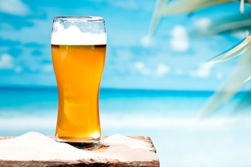 beer at beach
