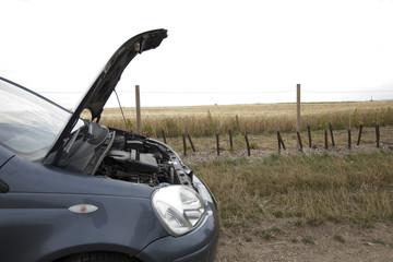 Car Broken Down in Countryside